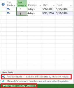 Auto schedule in project